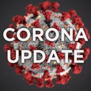 3D visualisatie coronavirus met opschrift corona update