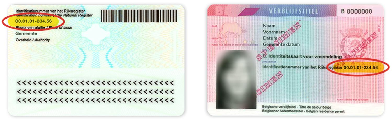 Achterkant identiteitskaart